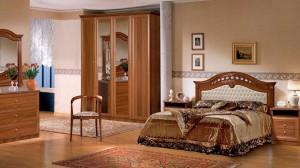 """Мебель для спальни """"Европа -7"""" итальянский орех"""
