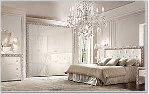 Купить Спальня Тиффани Premium Слоновая Кость / Серебро в Минске