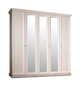 Шкаф 5-х дв. для платья и белья (с зеркалами)