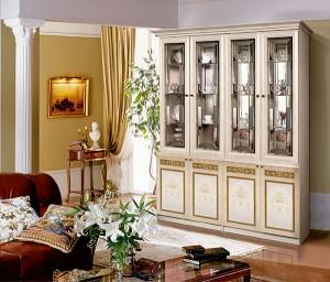 Модульная гостиная Карина-3 Композиция интерьер1 (Беж)