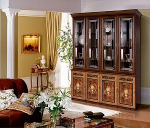 Модульная гостиная Карина-3 Композиция интерьер1 (Орех)