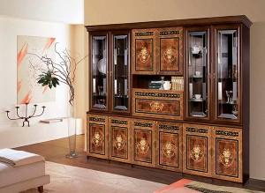 Модульная гостиная Карина-3 Композиция интерьер3 (Орех)