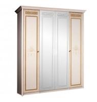 Шкаф 4-х ств. для платья и белья (2 зеркала)
