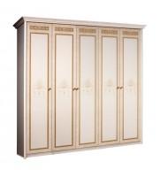 Шкаф 5-ти дв. (без зеркал) для платья и белья